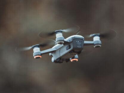 grey quadcopter drone
