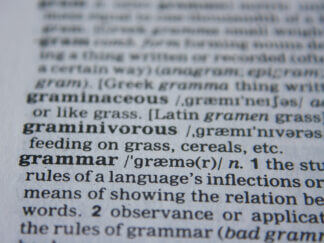 photo of grammar definition in dictionary