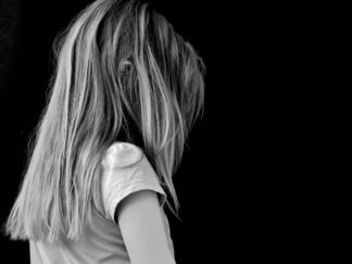 back of girl with long hair