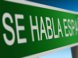 spanish learning language sign
