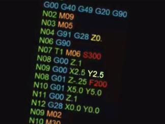 screenshot of G-code